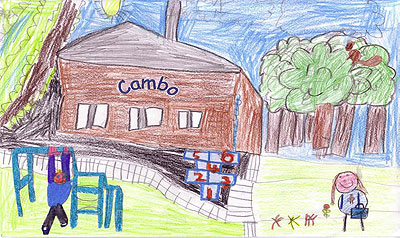 Drawing of Cambo School